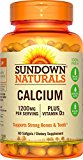 US Nutrition 1892673 Sundown Naturals Sundown Naturals Calcium Plus Vitamin D3 60 caps 1200 mg - 60 Caps