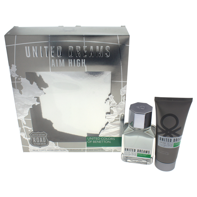 United Colors of Benetton M-GS-3290 Mens United Dreams Aim High Gift Set 2 Piece