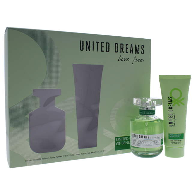 United Colors of Benetton W-GS-4408 Womens United Dreams Live Free Gift Set 2 Piece