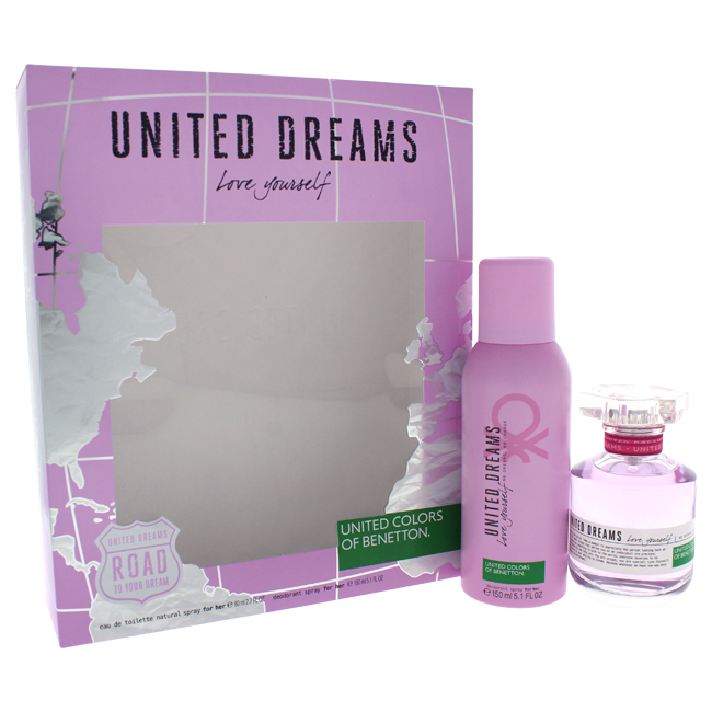 United Colors of Benetton W-GS-4409 Womens United Dreams Love Yourself Gift Set 2 Piece