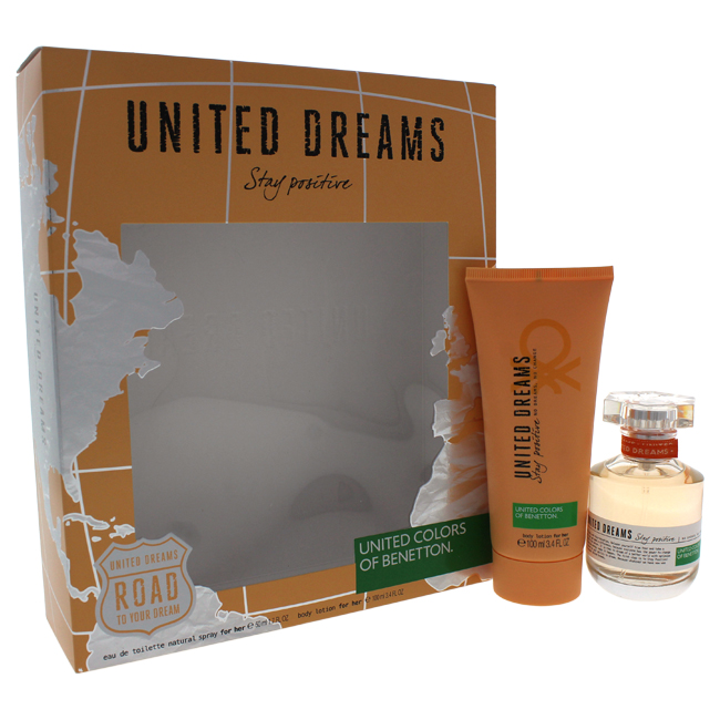 United Colors of Benetton W-GS-4410 Womens United Dreams Stay Positive Gift Set 2 Piece
