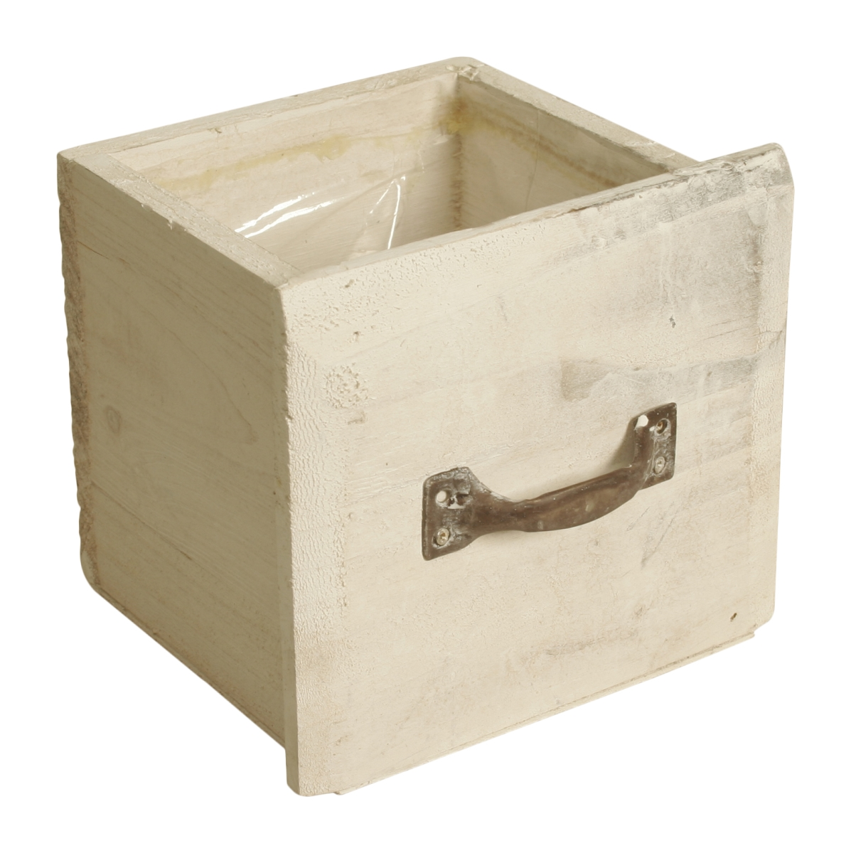 Wald Imports 70027 5 in. Distressed Whitewash Wood Drawer Pack of 2