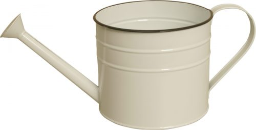 Wald Imports 8682-5P-C 5 in. Pearl White Metal Watering Can Pack of 2