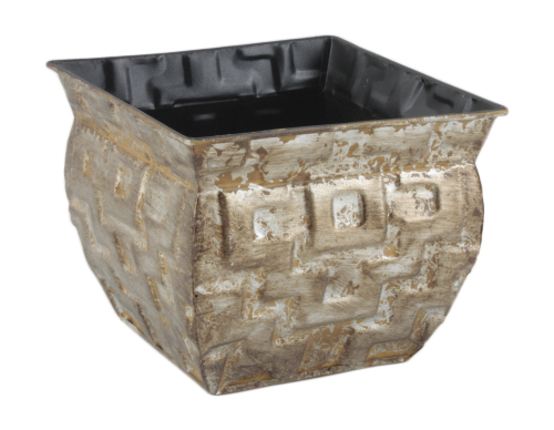 Wald Imports 8683-5P 5 in. Geometric Gold Metal Pot Cover Pack of 2
