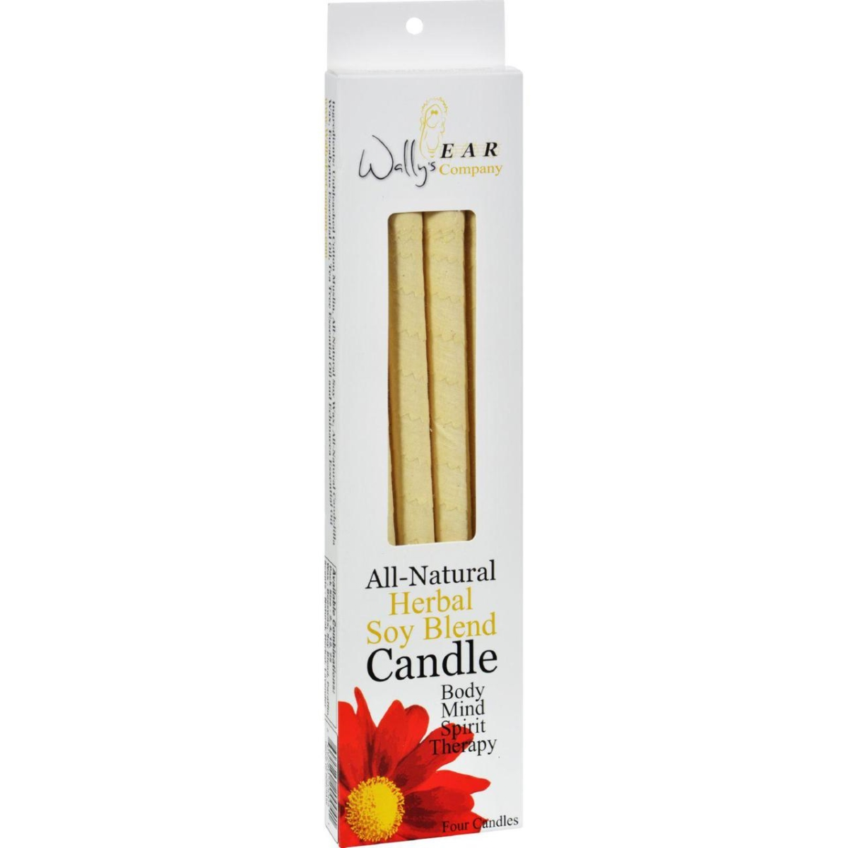 Wallys Natural Products HG0115923 Herbal Paraffin Ear Candle - Pack of 4