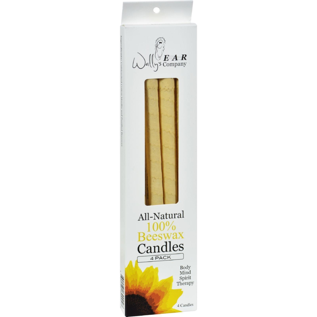 Wallys Natural Products HG0115949 Ear Candles Beeswax - 4 Candles