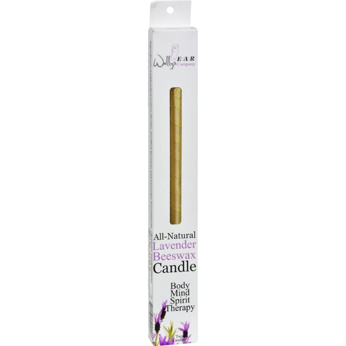 Wallys Natural Products HG0835140 Beeswax Candles Lavender - Pack of 2