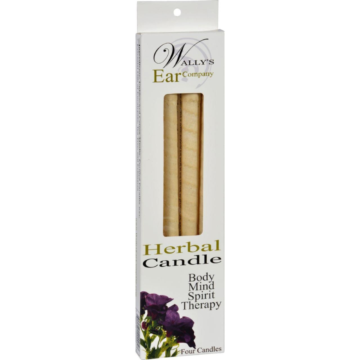 Wallys Natural Products HG1029966 Herbal Candles - 4 Candles