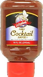 Woebers Supreme Fiery Cocktail Sauce Six 10-Ounce Units 60-Ounces -Pack of 6