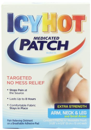 0010928 Icy Hot Extra Strength Medicated Patch, Small, 5 Count Box