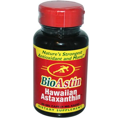 0138933 BioAstin Natural Astaxanthin - 4 mg - 60 Gelatin Capsules