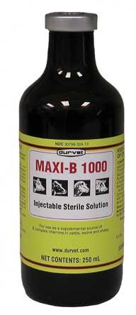 02 2280 Yellow Maxi B 1000 Injection 250 Milliliter