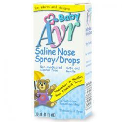 0298018 Ayr Babys Saline Nose Spray, Drops, 1 fl oz
