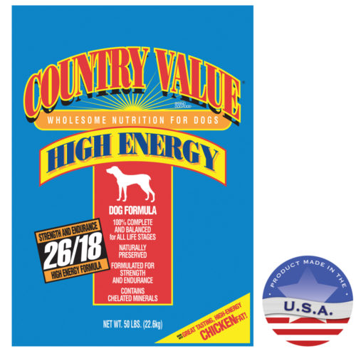 030DIA-21050 50 lbs Country Value Hi-Energy Adult Dog Food