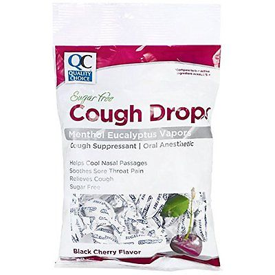 0379654 Quality Choice Cough Drops Black Cherry Sugar Free, 25 count