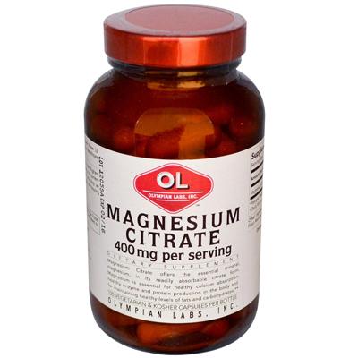 0388942 Magnesium Citrate - 400 mg - 100 Capsules