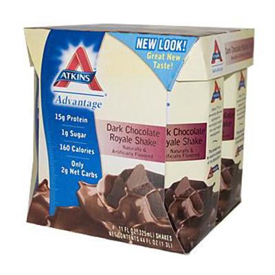 0458042 Advantage RTD Shake Dark Chocolate Royale - 11 fl oz Each - Pack of 4
