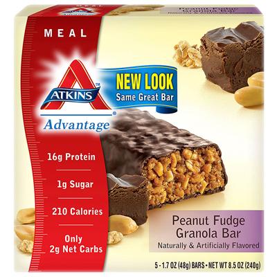 0458604 Advantage Bar Peanut Fudge Granola - 5 Bars