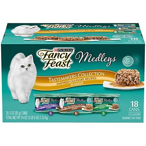 050485 3 oz Fancy Feast Medleys Tastemakers Collection Adult Wet Cat Food - 18 Count