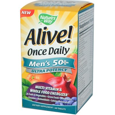 0726562 Alive Once Daily Mens 50 plus Multi-Vitamin - 60 Tablets