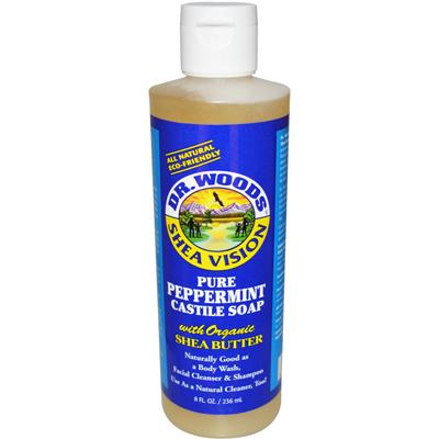 0771071 Shea Vision Pure Castile Soap Peppemint with Organic Shea Butter - 8 fl oz