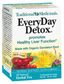 0911115 EveryDay Detox Herbal Tea 16 Wrapped Tea Bags 0.85 oz - 24 g - 16 Bag