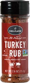 1001327 2.6 oz Turkey Rub Seasonings, Red & Black
