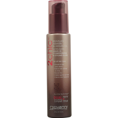 1084532 2chic Ultra-Sleek Leave-In Conditioning and Styling Elixir with Brazilian Keratin and Argan Oil - 4 fl oz