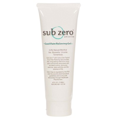 11-0951-1 Subzero Cats Claw Pain Relief Gel, 4 oz Tube