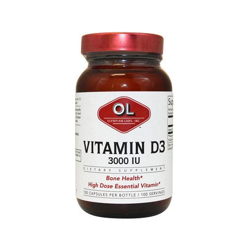 1214576 Vitamin D3 - 3000 IU capsules, 100 Count