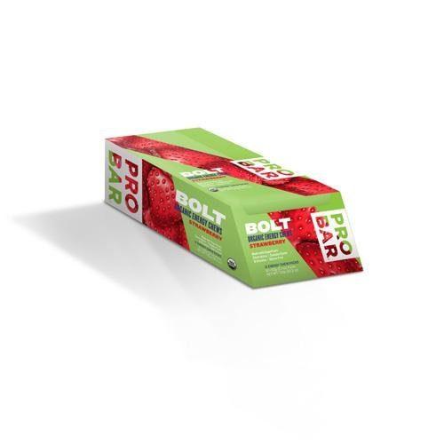 1232164 2.1 oz Bolt Energy Chews, Organic Strawberry - Case of 12