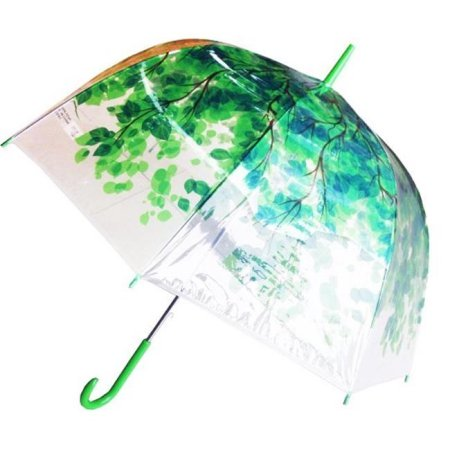 1260S Bubble Clear Dome Shape Umbrella in Forest Print