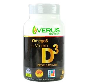 140902 Vitamin D3 Plus Omega 3, 60 Softgels