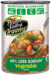 15 Ounce, Organic Vegetable Soup, No Salt Added