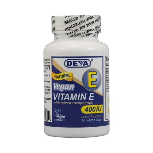 151605 Deva Vegan Vitamin E with Mixed Tocopherols - 400 IU - 90 Vegan Capsules