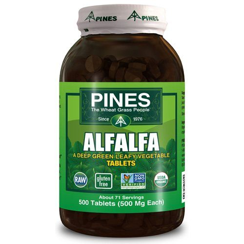 1580315 Alfalfa Organic Tablets - 500 Tablets