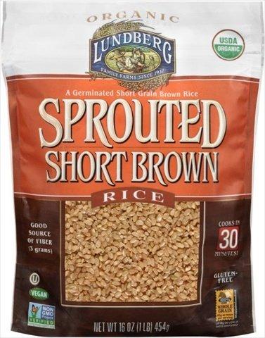 16 Ounce Organic Brown Short Grain Rice