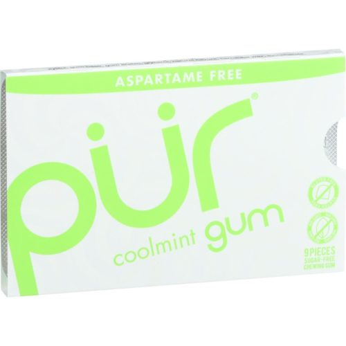 1608470 12.6 g Coolmint Chewing Gum - Aspartame Free - 9 Pieces, Case of 12