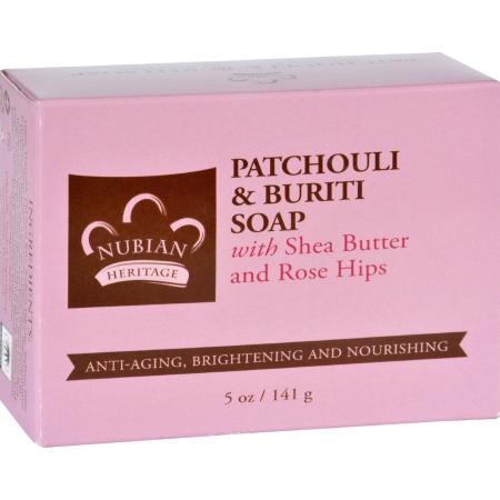 1702901 5 oz Gluten Free Bar Soap, Patchouli & Buriti