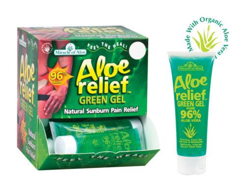 1751 4 oz Aloe Relief Green Gel