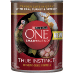 178305 13 oz One SmartBlend Wet Dog Food True Instinct Tender Cuts with Real Turkey&Venison, Case of 12