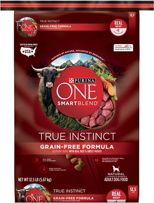178329 12.5 lbs One SmartBlend True Instinct with Real Beef & Sweet Potato Grain-Free Dry Dog Food