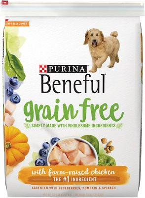 178333 12.5 lbs Beneful Grain Free with Real Farm-Raised Chicken Dry Dog Food