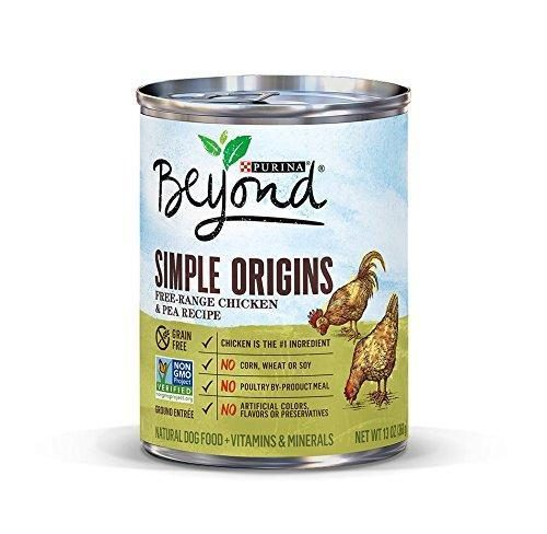 178356 12.5 oz Beyond Simple Origins Free-range Chicken & Pea Recipe Natural Dog Food - Case of 12