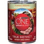 178368 13 oz One SmartBlend True Instinct Ground with Real Game Bird Wet Dog Food - Case of 12