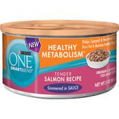 178659 3 oz One Smartblend Healthy Metabolism Salmon Cat Food, Case of 24