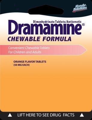 1867504 Dramamine Chewable Orange Tab, Pack of 2