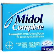 1867520 Midol Caplets, 4 Count