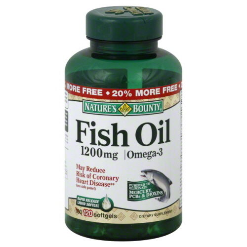 1890867 1200 mg Natures Bounty Fish Oil - 120 Count