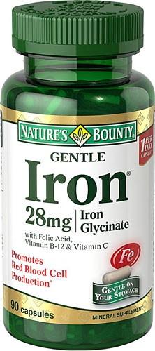 1890956 Natures Bounty Gentle Iron, 90 Capsules